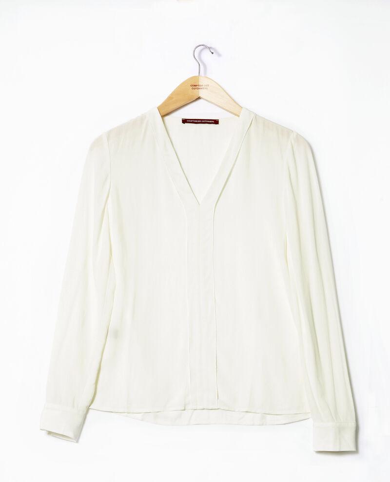 Blusa con escote de pico Blanco 9ganet