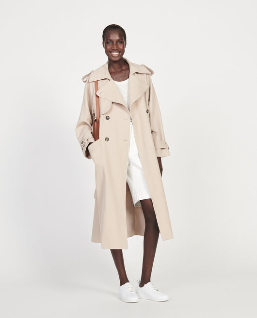 Trench de lana OXFORD TAN