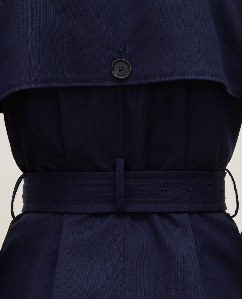 Trench icónico de algodón Maritime blue Lambert
