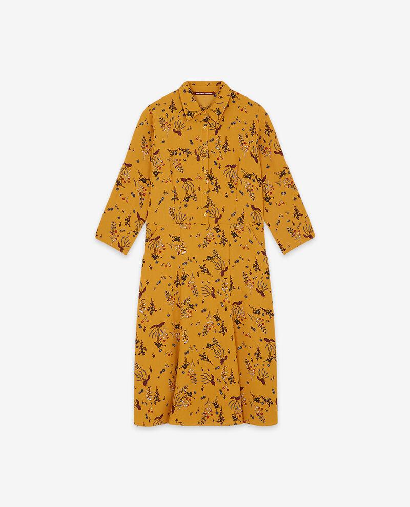 Vestido estampado Arty garden curcuma Daphne