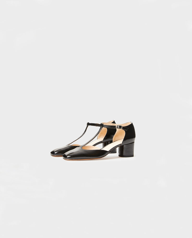 Zapatos salomé de charol  Black beauty Megeve
