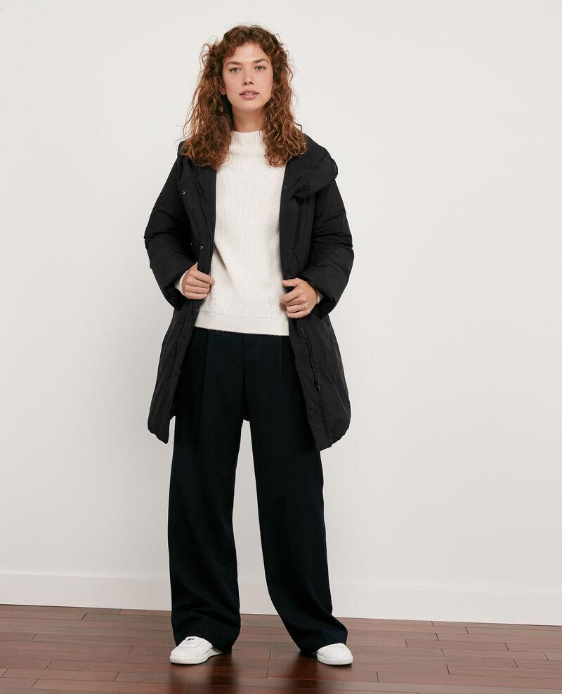 Abrigo plumas con capucha Noir - Domette | Comptoir des Cotonniers