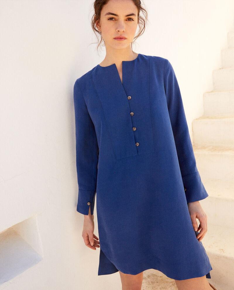 Robe col tunisien Imperial blue Ioca