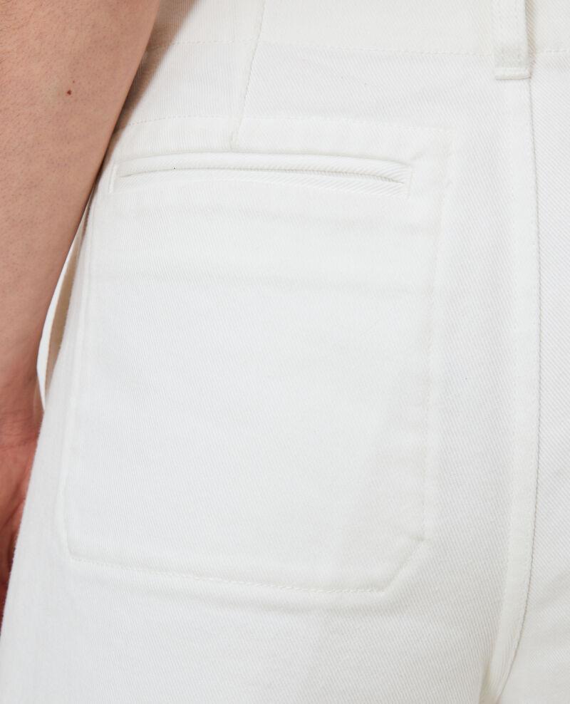 Falda pantalón blanco Optical white Nayoz