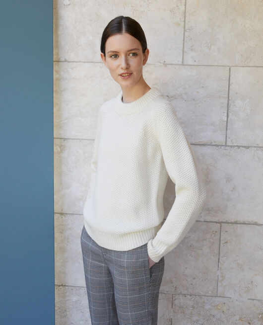 Jersey de lana OFF WHITE