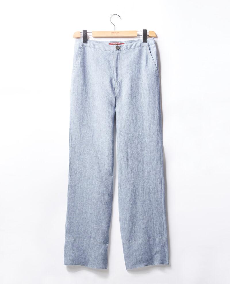 Pantalón de lino corte amplio Azur Facteur