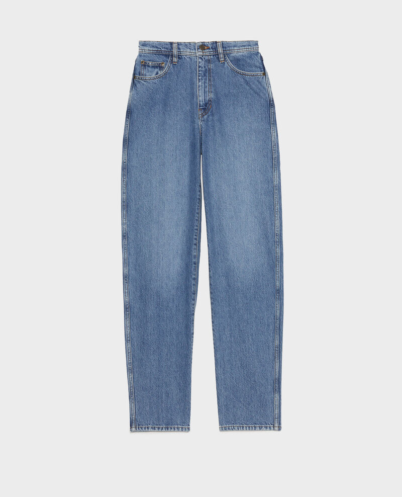 REAL STRAIGHT - Jeans desteñidos talle alto y 5 bolsillos  Light denim Merleac