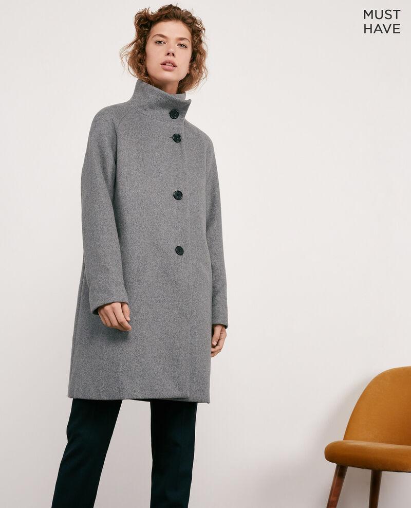 Abrigo de lana Medium heather grey Dyera