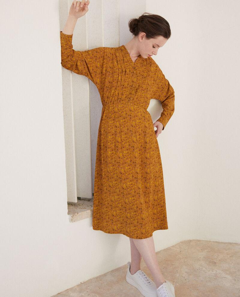 Vestido estampado Ld golden spice Geviana