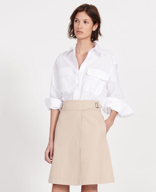 Falda cruzada de algodón OXFORD TAN
