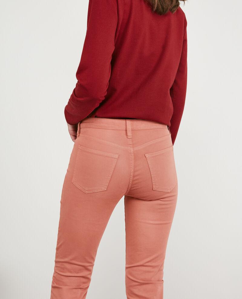 Jeans cigarette tacto piel de melocotón Rose clay 9dhanna