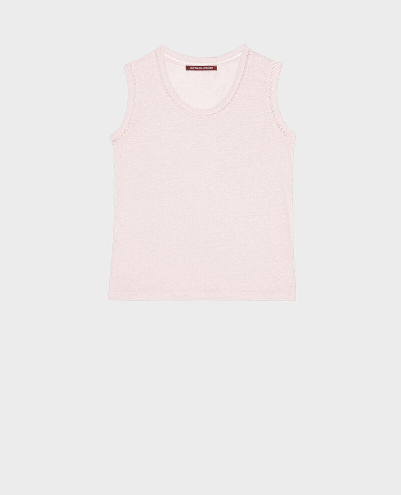 Camiseta de lino de jersey con tirantes Primrose pink Lespa