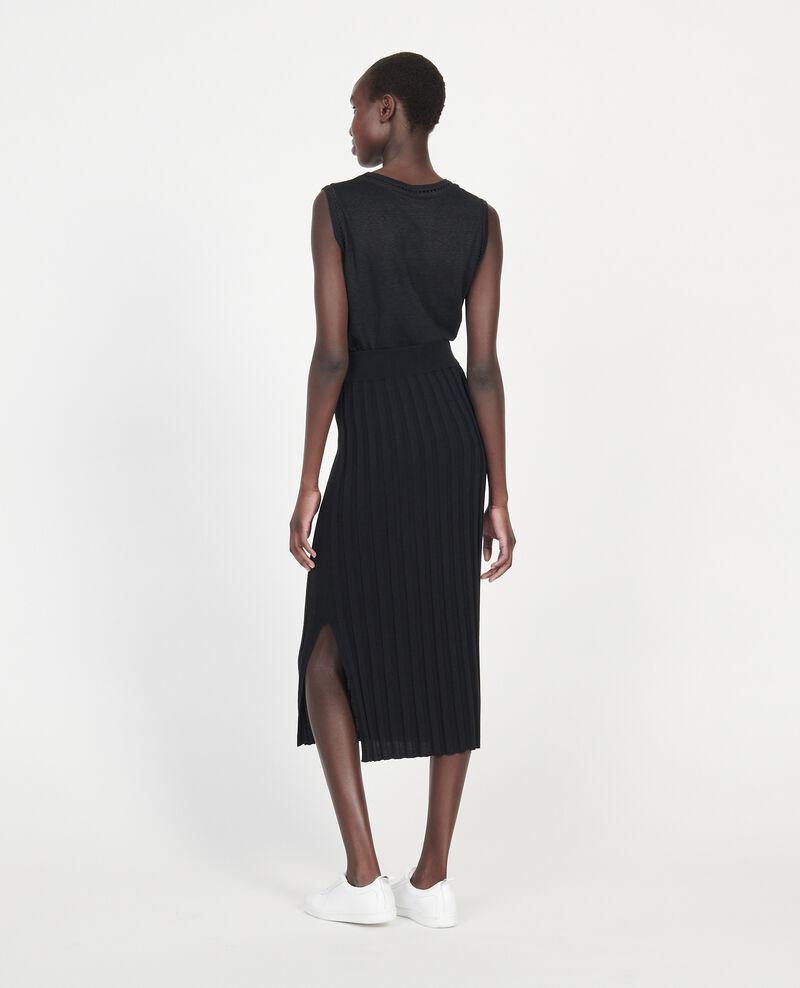 Falda de algodón Black beauty Losse