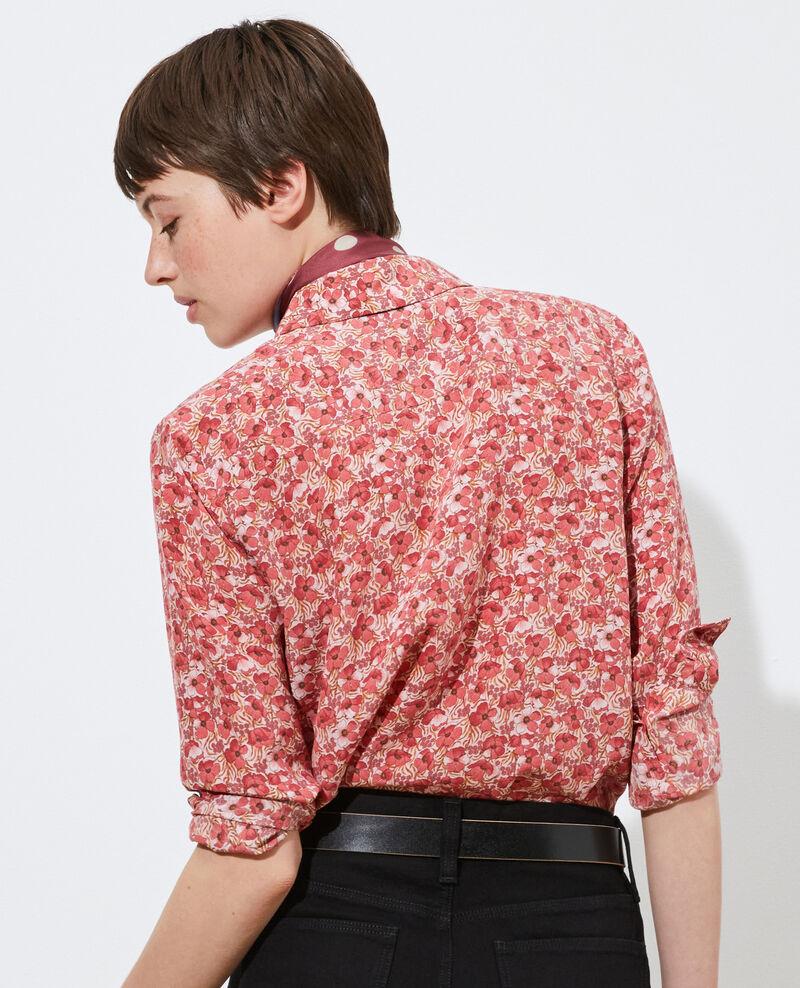 SIBYLLE - Camisa de seda con manga larga Art deco pink Misabethou