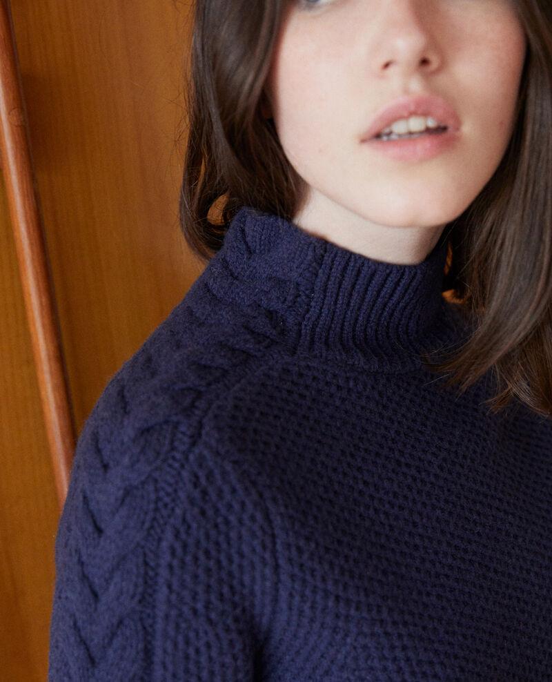 Jersey de lana con detalle de trenza Peacoat Garouk