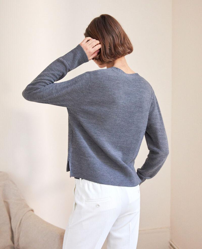 Cárdigan de lana Dark heather grey 9idada