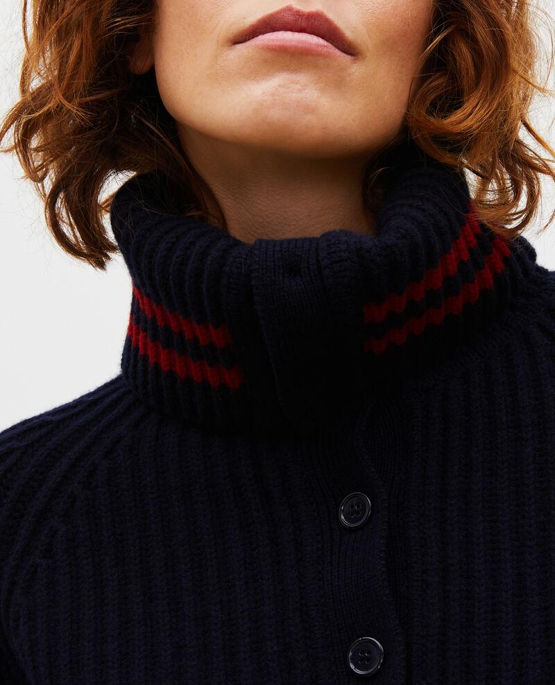 Jersey ancho cuello alto con cremallera de lana Night sky Marsani