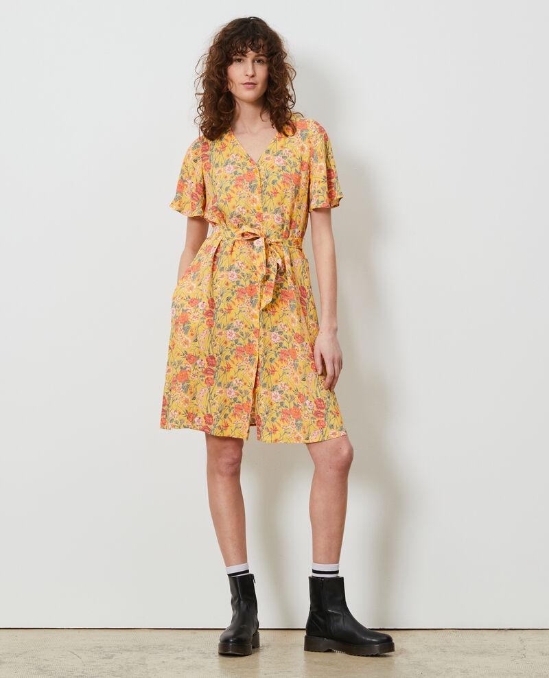 Vestido corto estampado Ete gold small Nauvishort