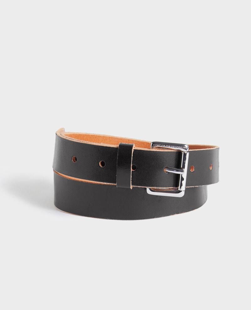 Cinturón clásico de cuero Black beauty Noyau
