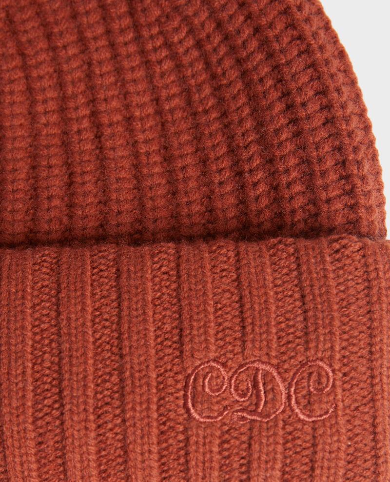 """Gorro de lana con las letras """"CDC"""" bordadas Brandy brown Moeze"""