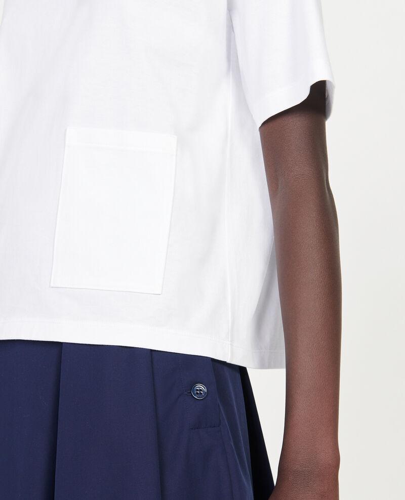 Camiseta oversize de algodón mercerizado Optical white Lexana