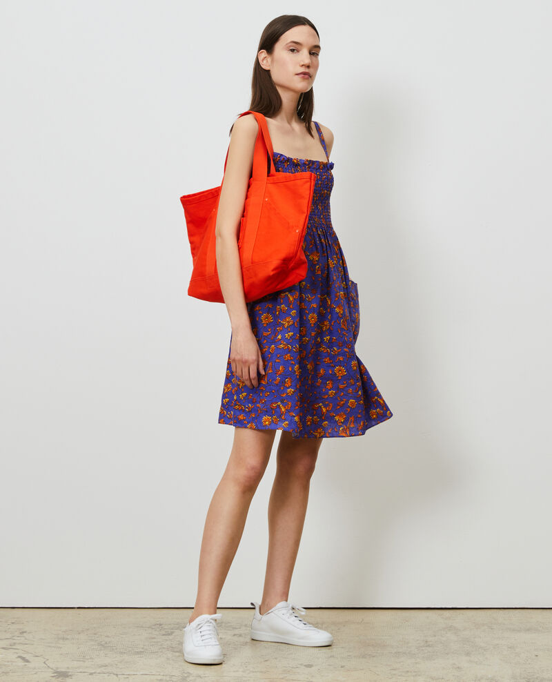 Vestido corto de lino Indie-big-blue Nassandria