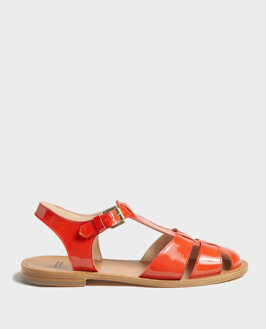 Sandalias de charol FIERY RED