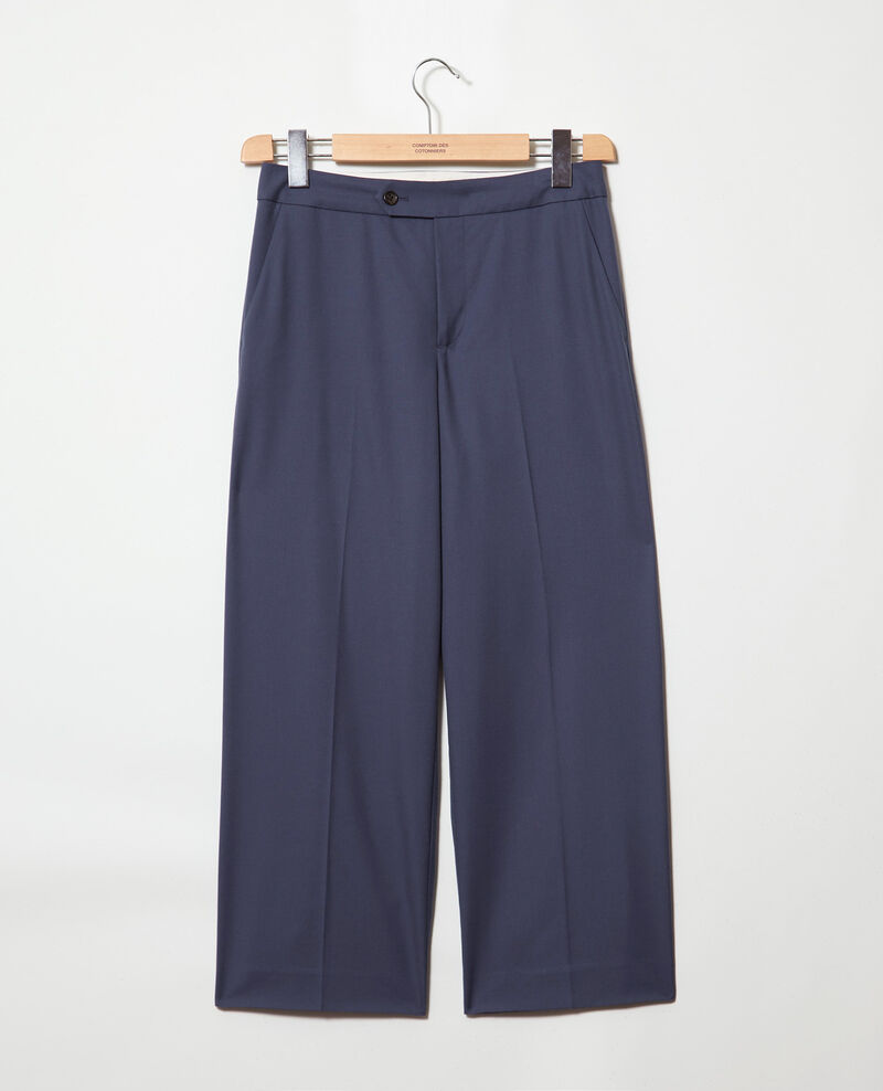 Pantalón corte carrot Ink navy Idma