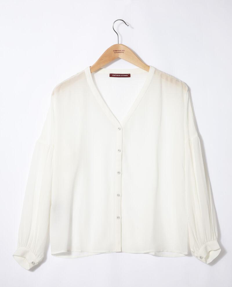 Blusa con escote de pico Blanco Gaucelin