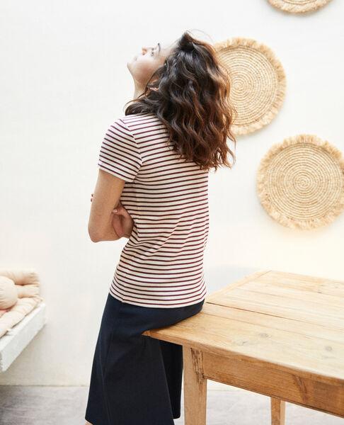 Comptoir des Cotonniers - Camiseta de rayas Beige/red - 3