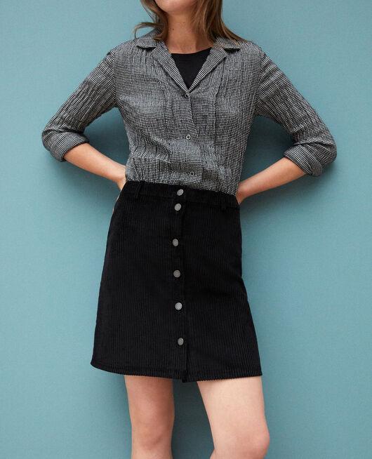 Falda de pana gruesa Negro