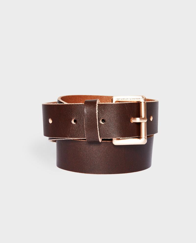 Cinturón clásico de cuero Cappuccino Noyau