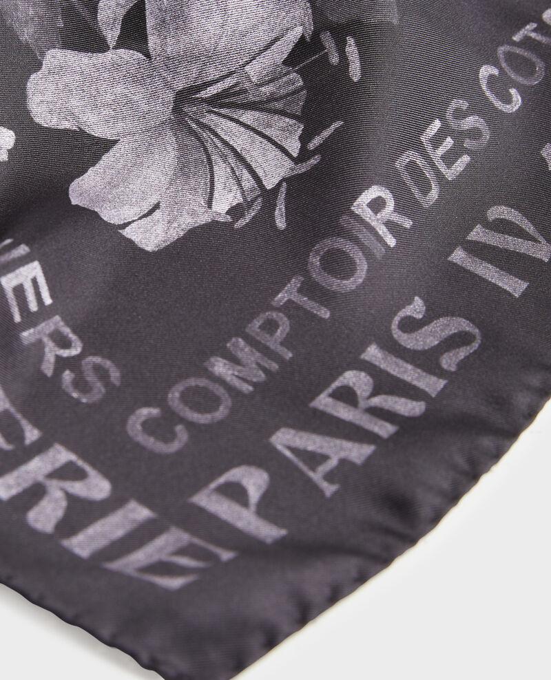 Foulard cuadrado de seda Black beauty Maraiche