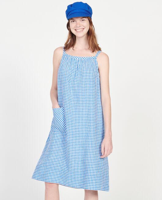 Vestido de algodón VICHY PRINCESS BLUE GARDENIA