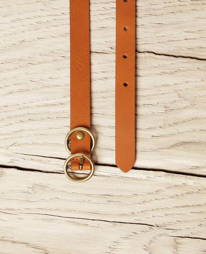 Cinturón de cuero Camel Idoubli