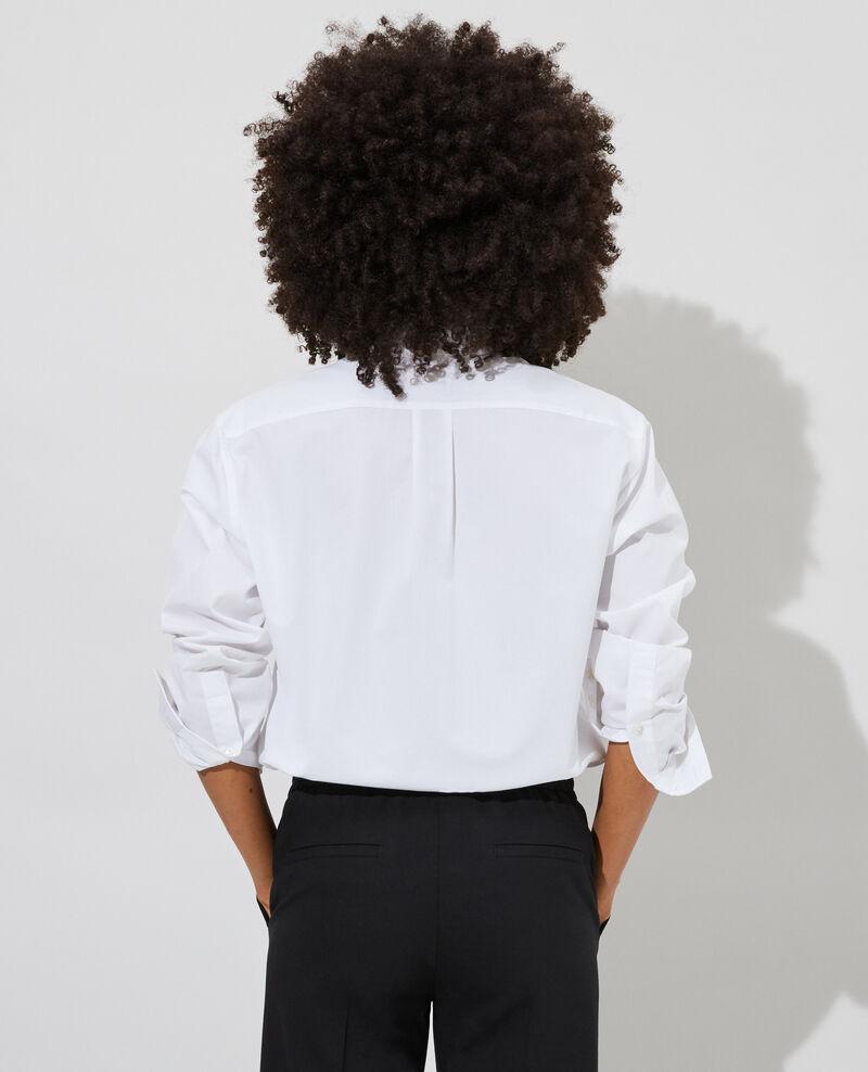 Camisa boyish de algodón Optical white Lynda