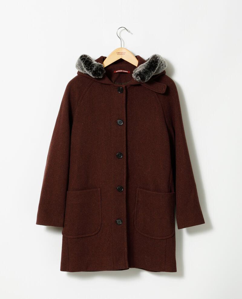 Abrigo con capucha Marrón Gustin