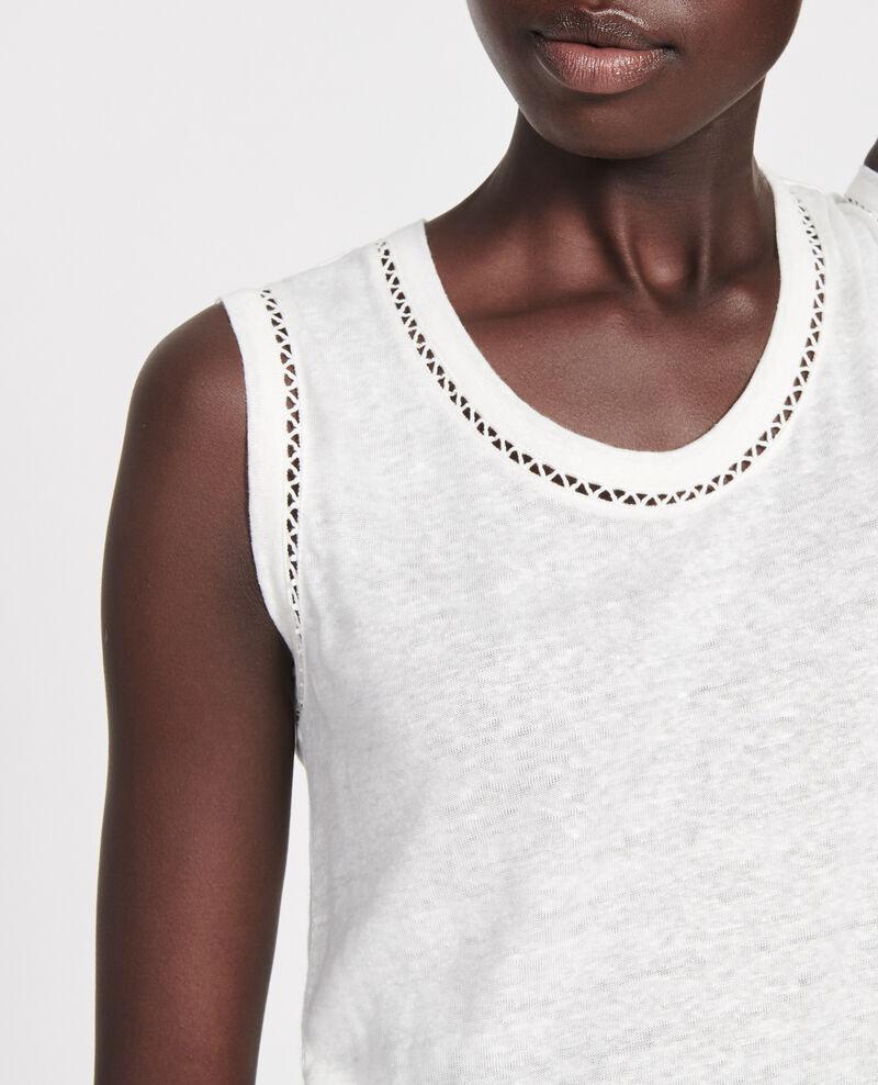 Camiseta de lino con tirantes Gardenia Lespa