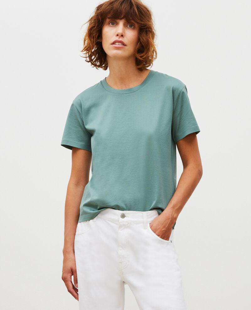 Camiseta de algodón con cuello redondo y manga corta Treillis Lirous