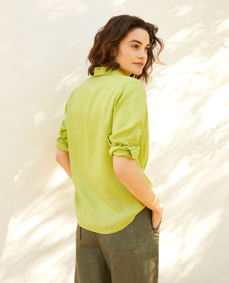 Camisa de lino Lime green Igram