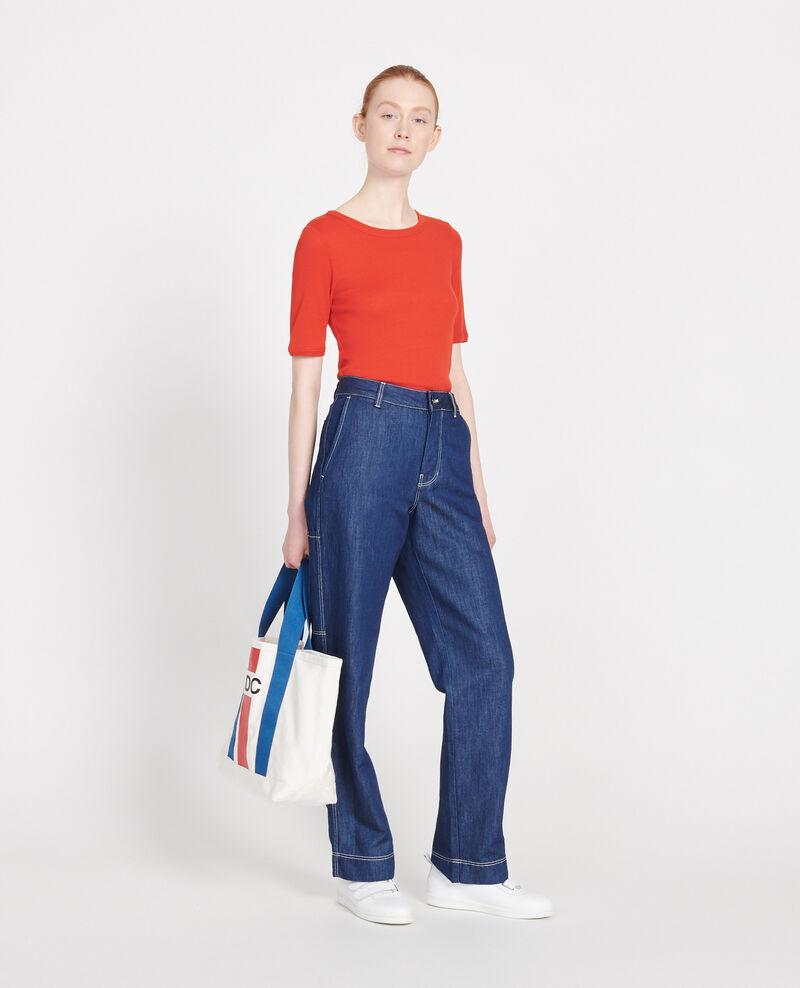 Camiseta de algodón mercerizado Fiery red Lasso
