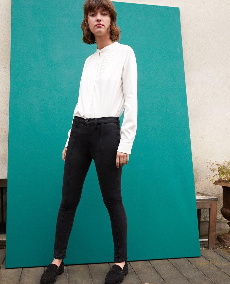 Jeans skinny cropped 7/8 Negro Gireg