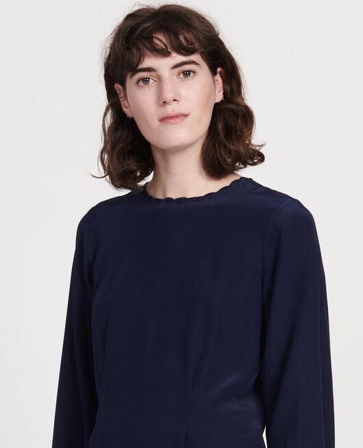 Blusa con bordados MARITIME BLUE