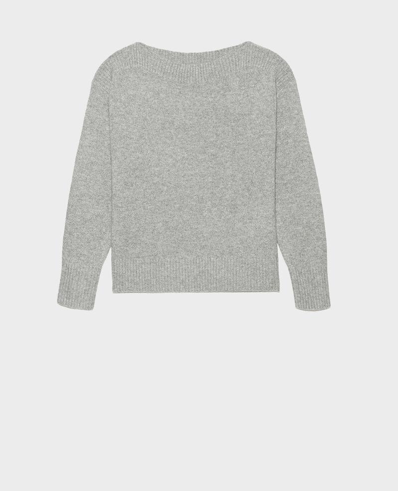 Jersey de cachemir con cuello de barco Light grey melange Matelot