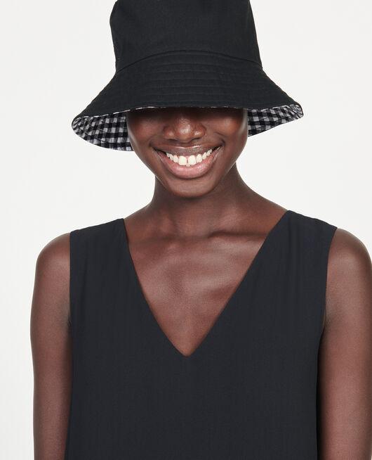Sombrero bob con borde ancho BLACK VICHY BLACK