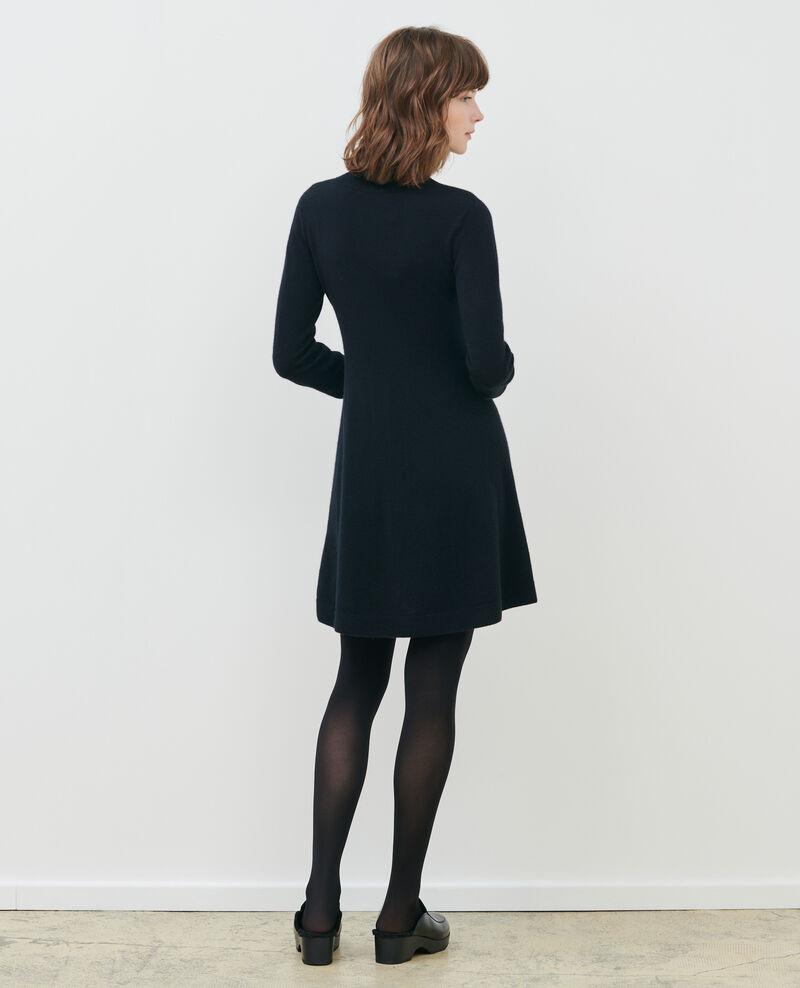 Vestido corto de cachemir 3D Black beauty Paulnela