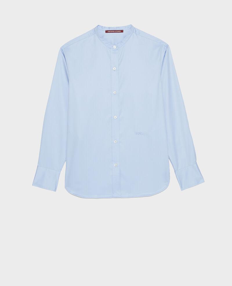 Camisa de algondón con cuello rendondo Classic blue Mannion