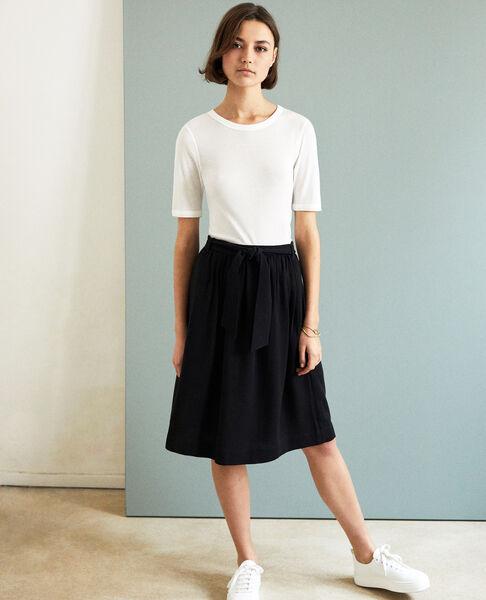 Comptoir des Cotonniers - Camiseta canalé  Off white - 4
