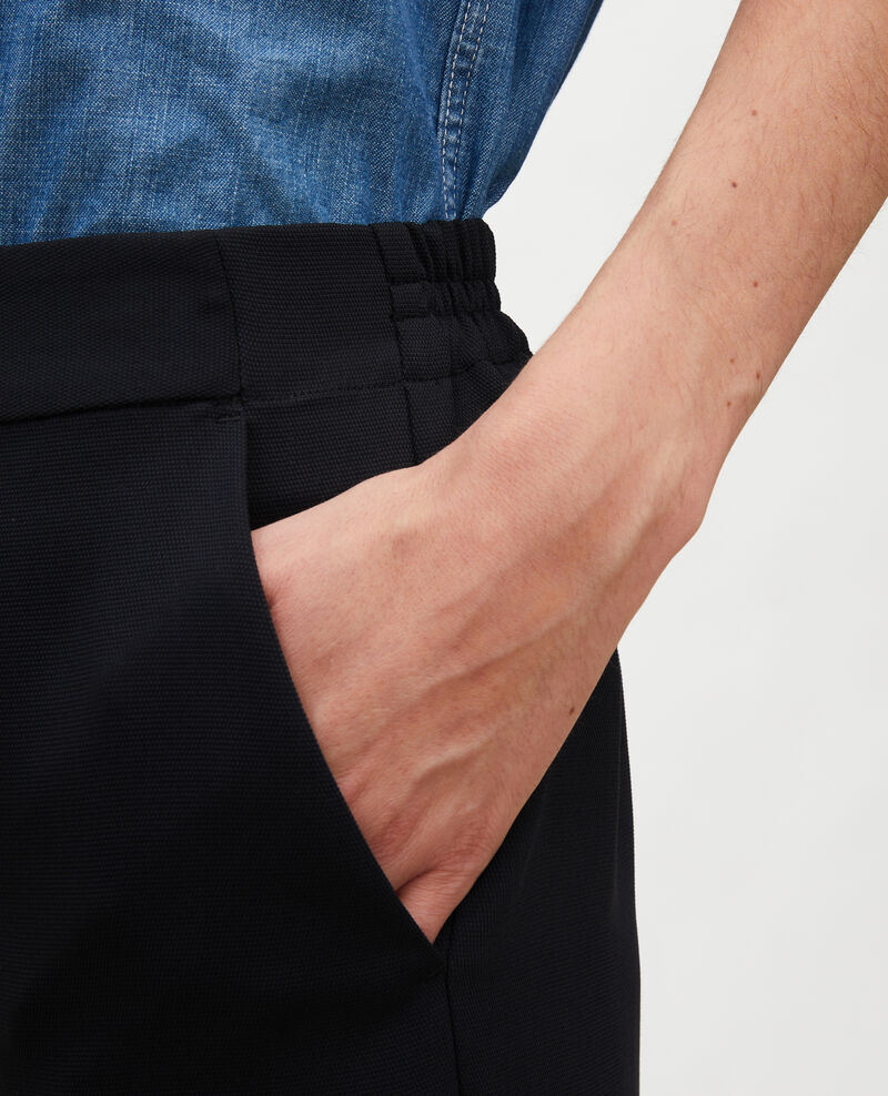 Pantalón fluido elástico Black beauty Luant