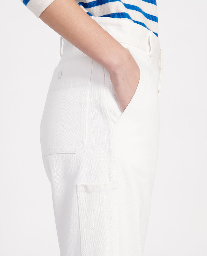 Pantalón con bolsillos Optical white Laora